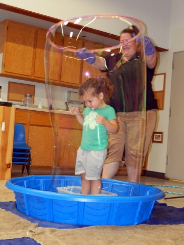 Toddler Summer School Bubble Play