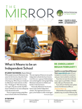 Cover of the MIRROR newsletter